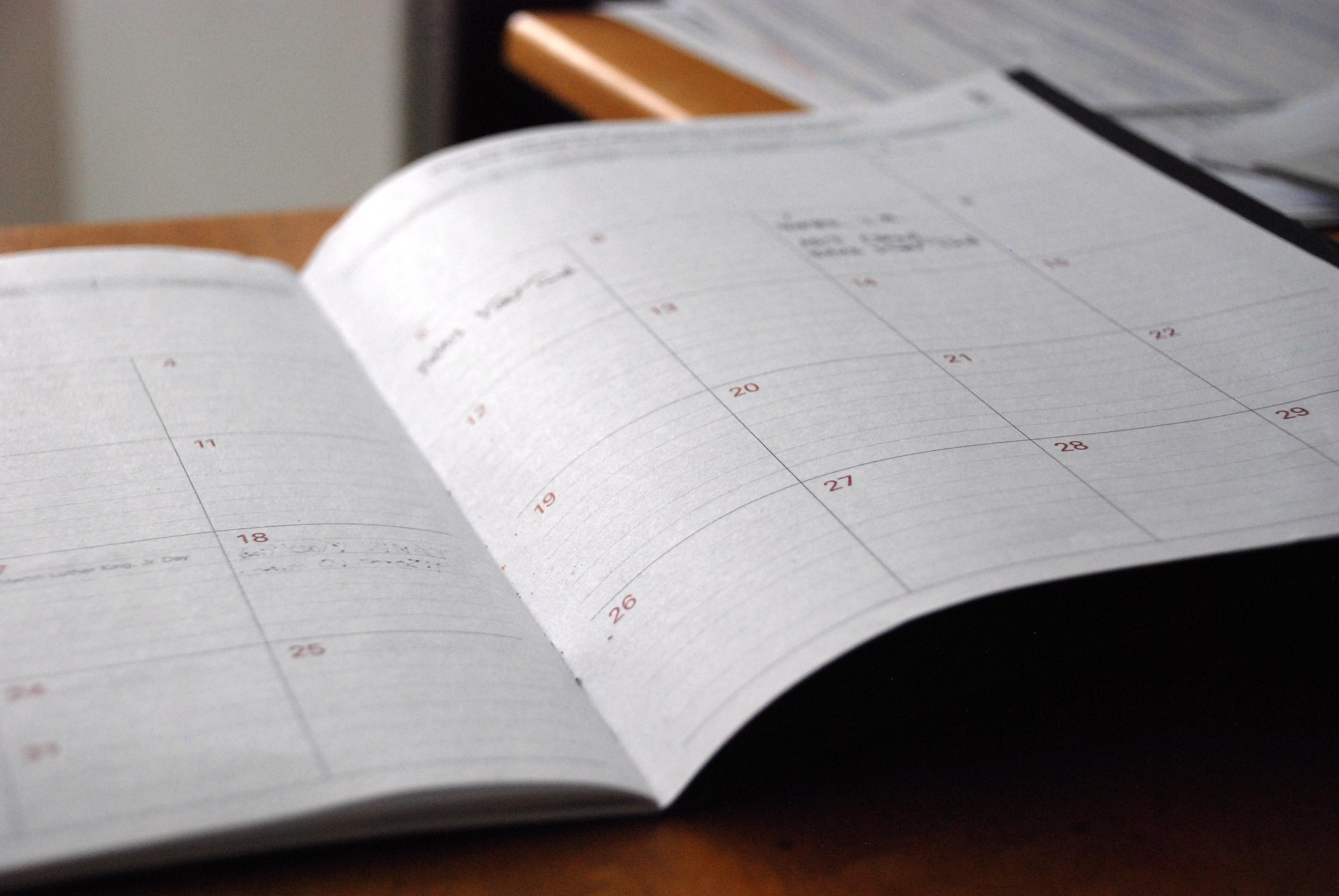 Coachutbildning Kalendarium